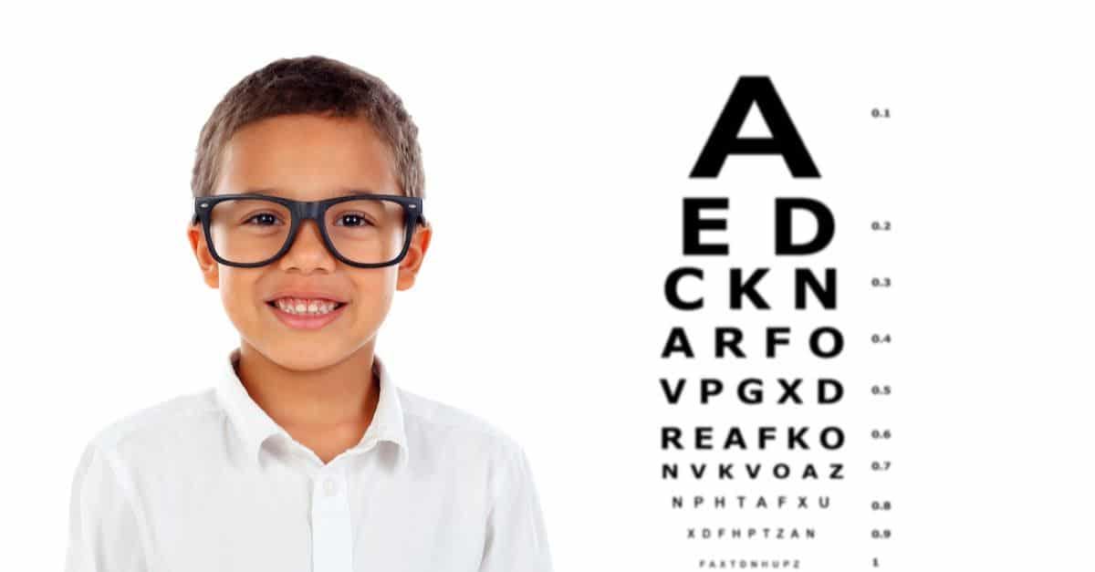 A Child at an eye exam
